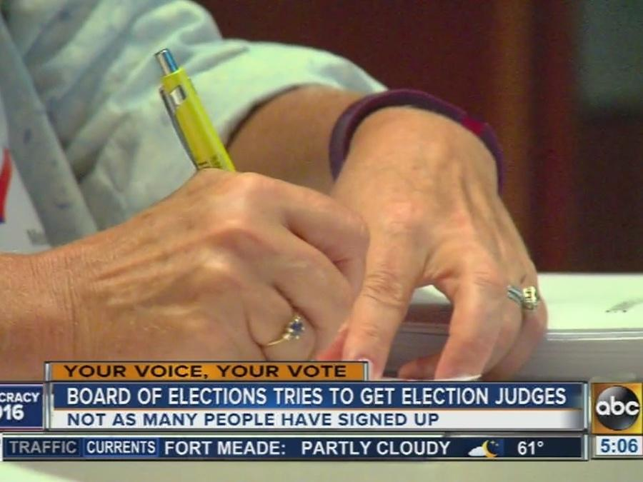 Board of Elections struggling to sign up election judges