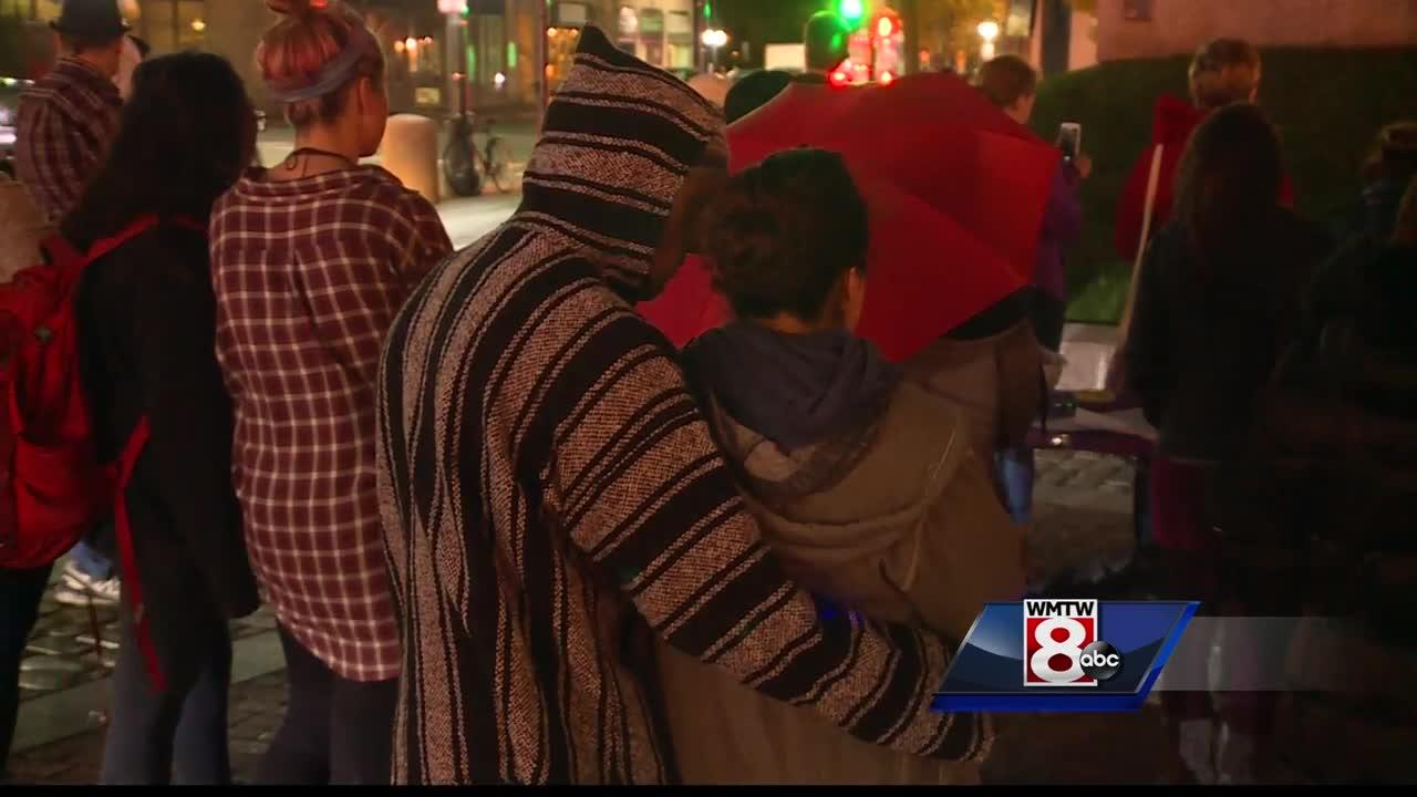 Mainers mark domestic violence awareness month with vigil