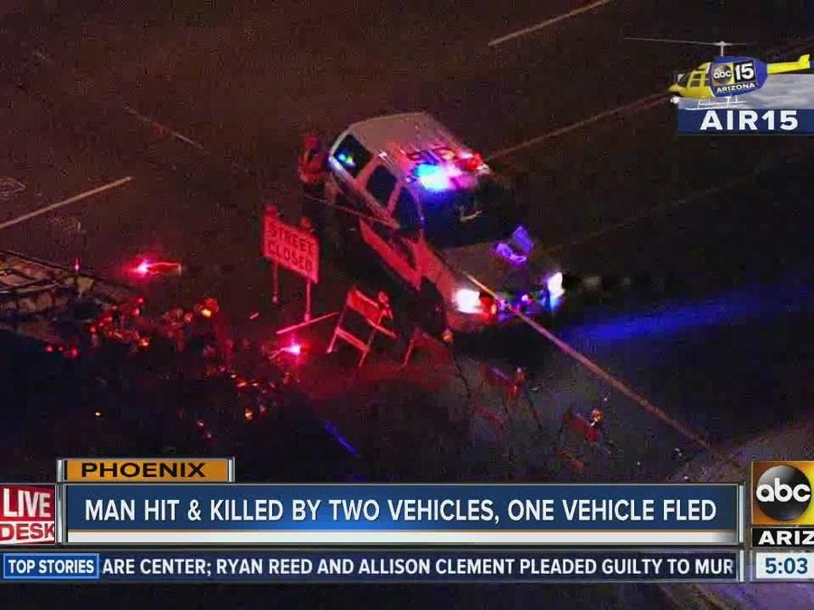 Man hit and killed by two vehicles in Phoenix Thursday night