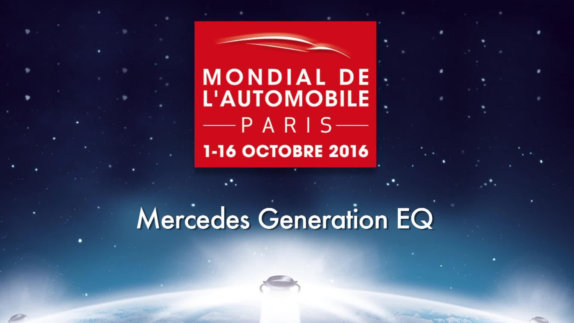 Mercedes Generation EQ at Paris Motor Show 2016