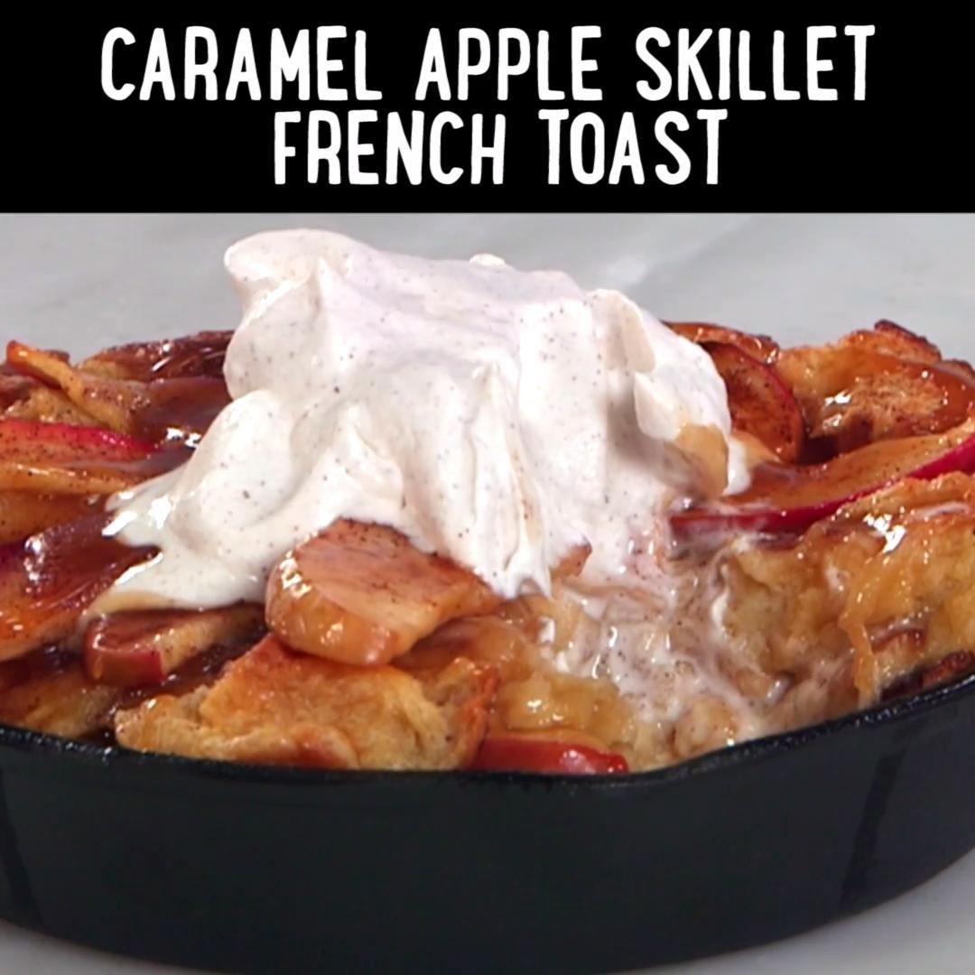 How to Make Caramel Apple French Toast Skillets