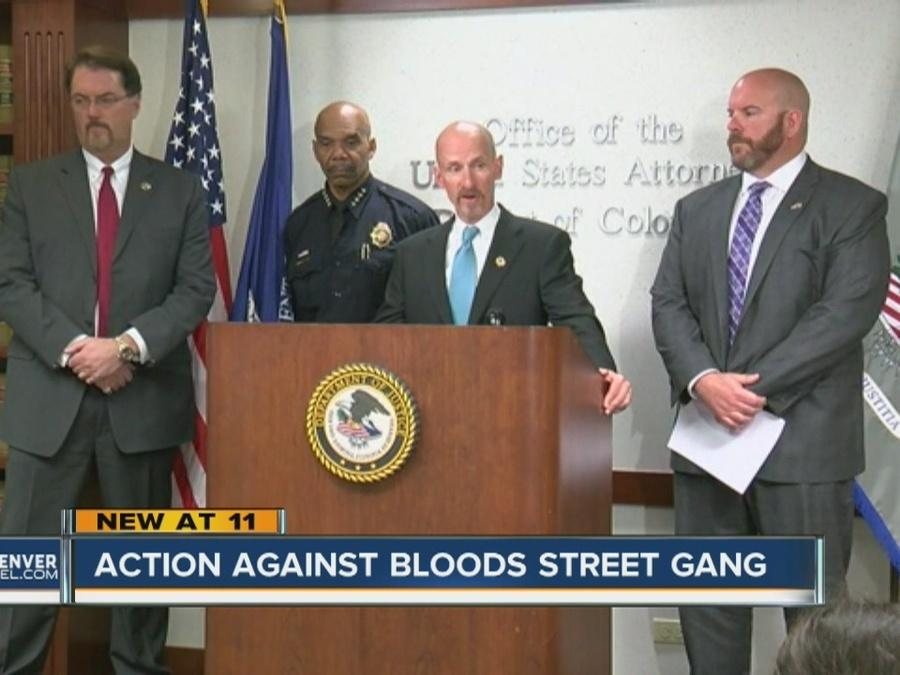 Action against Blood Street Gang in Denver
