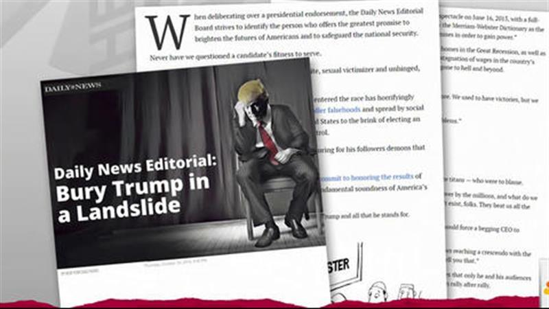 Daily News prints Trump 'political obituary'
