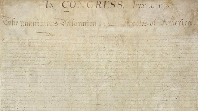 Experts: Declaration Of Independence 'Defaced' In The Early 20th Century