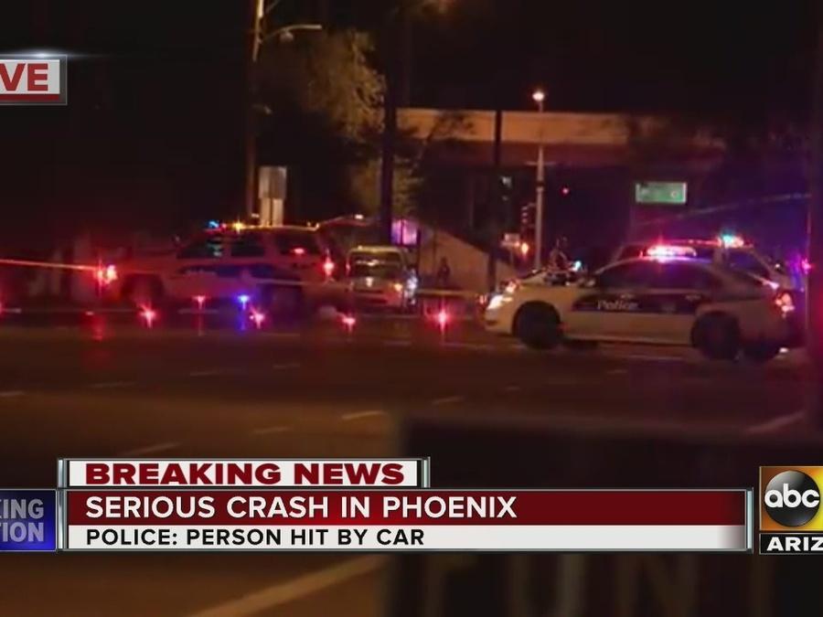 Pedestrian hit by car in Phoenix