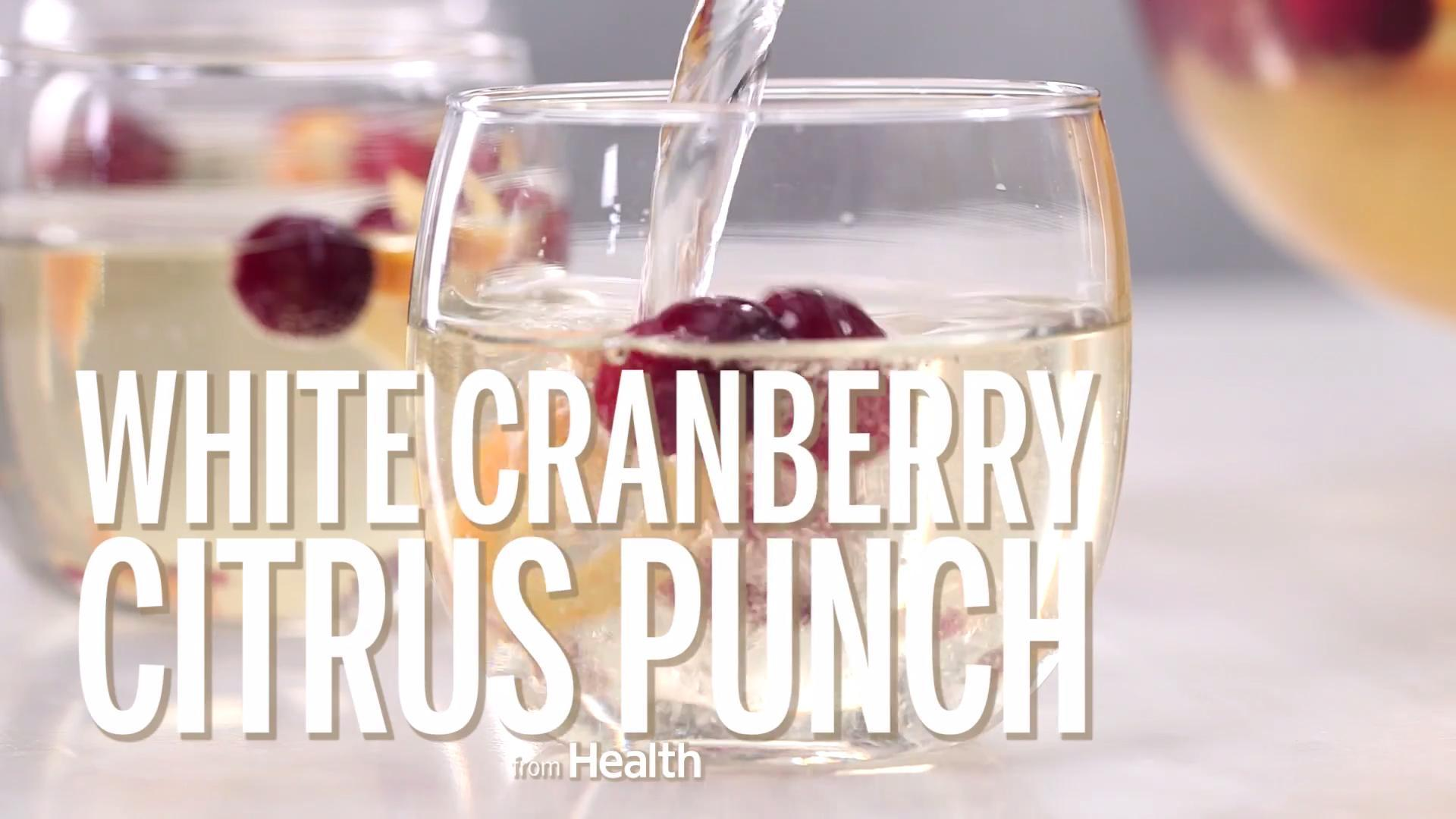 How to Make White Cranberry Citrus Punch