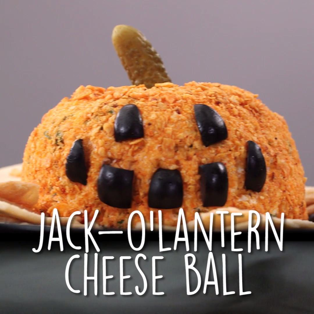 How to Make a Jack-o' Lantern Cheese Ball