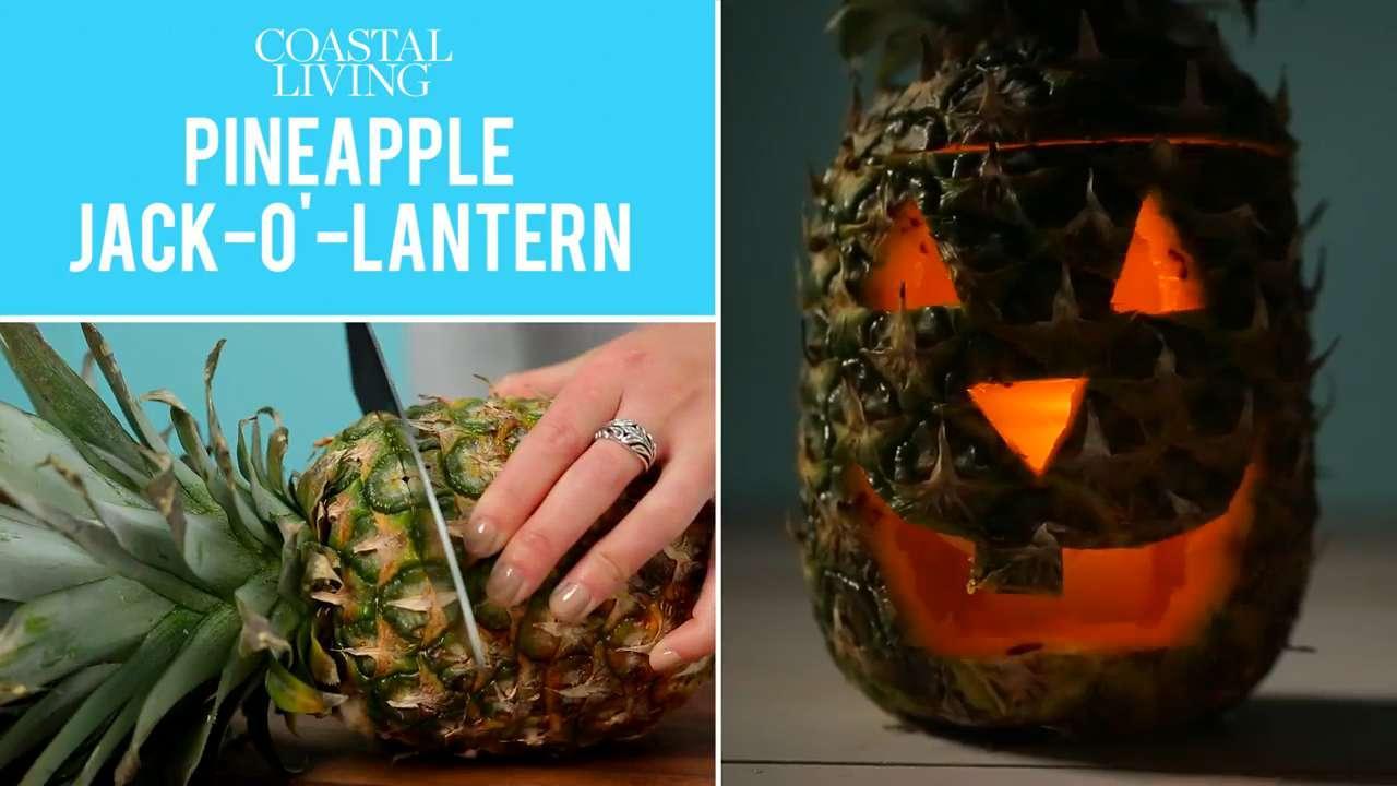 Pineapple Jack'o'lantern
