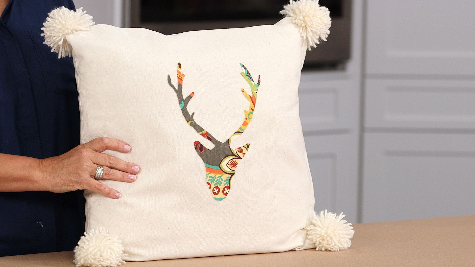 No-Sew Deer Pillow