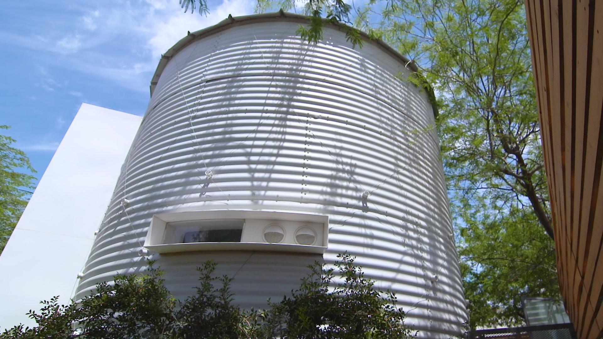 This Phoenix Couple is Living in a 365 Square Foot Grain Silo
