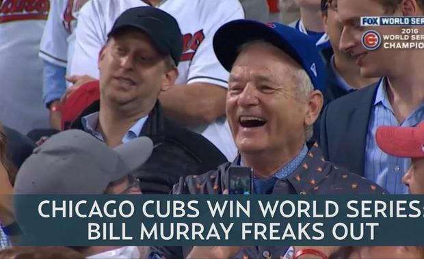 Bill Murray's Reaction to Chicago Cubs' World Series Win Has the Internet Freaking Out