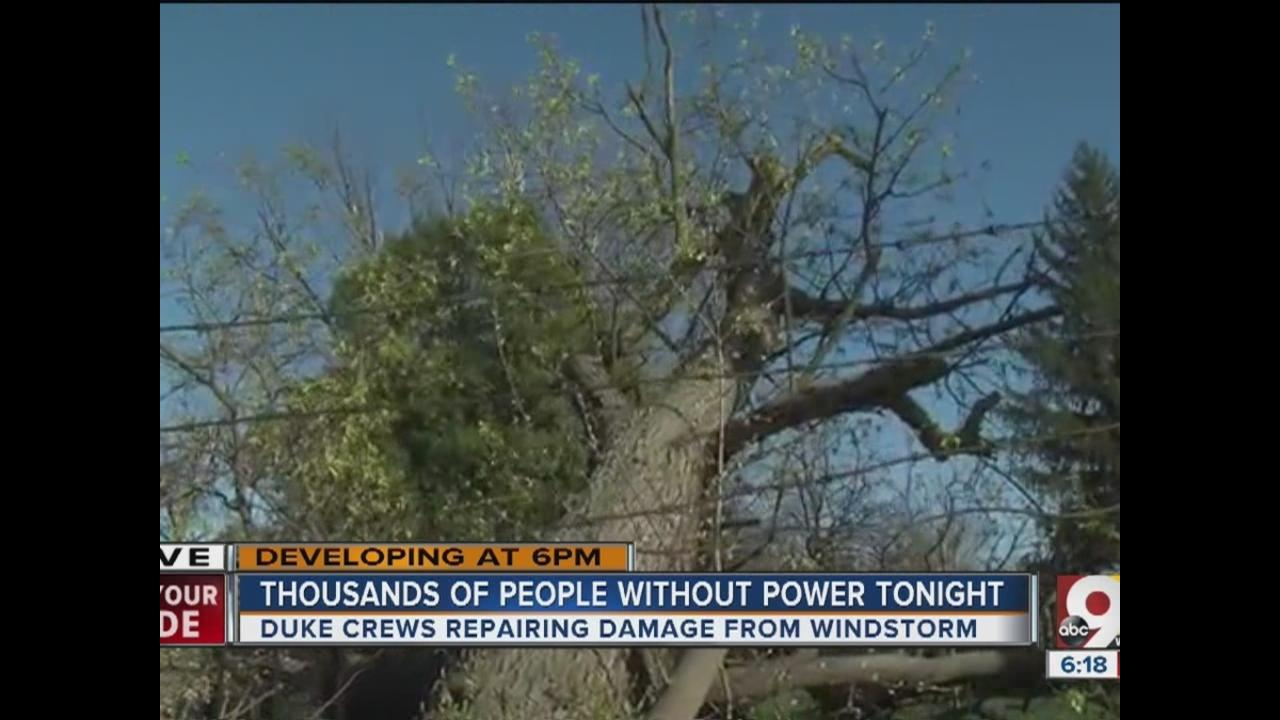 Power outages in nky - High Winds Cause Power Outages Damage Across Greater Cincinnati Wcpo Cincinnati Oh