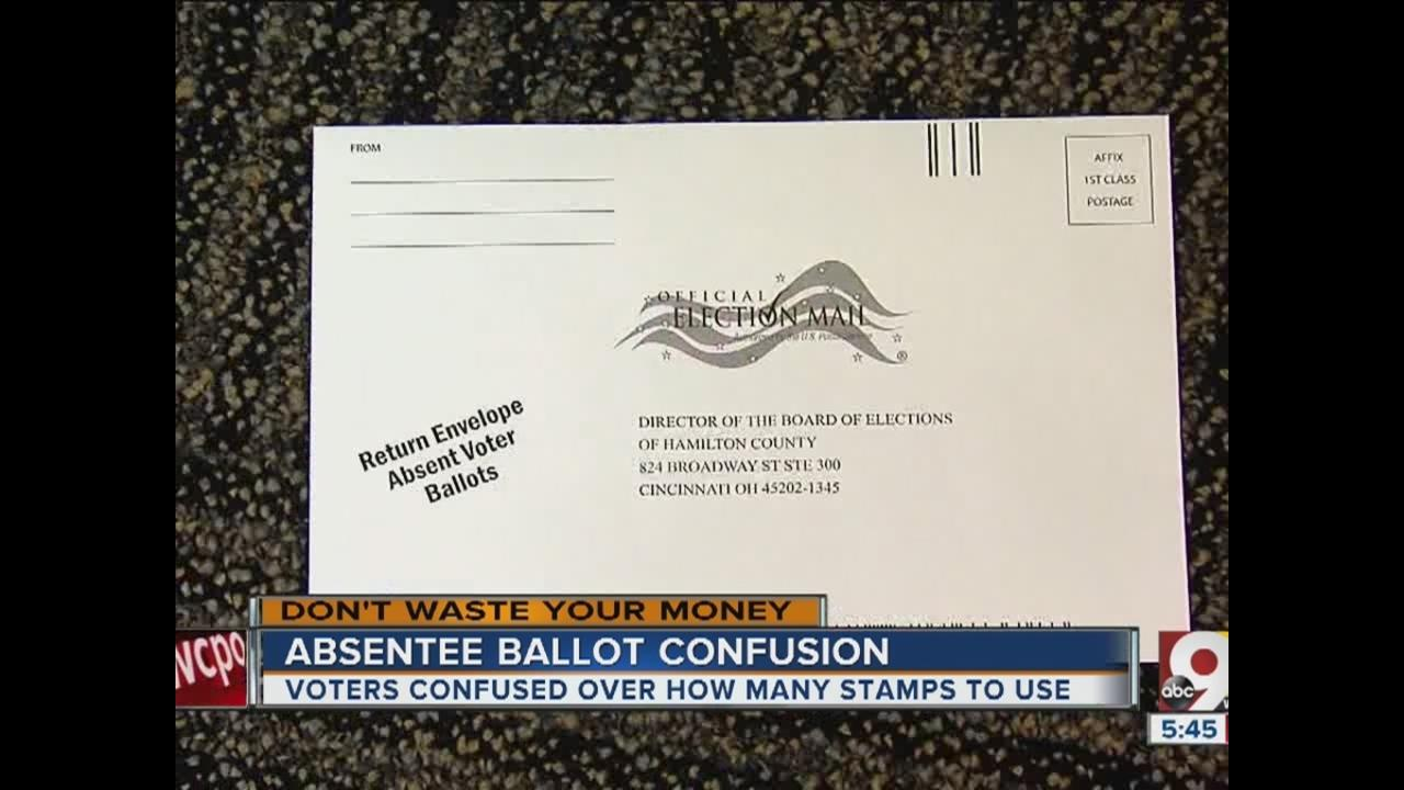 dumb confusing postage for absentee ballots wcpo cincinnati oh