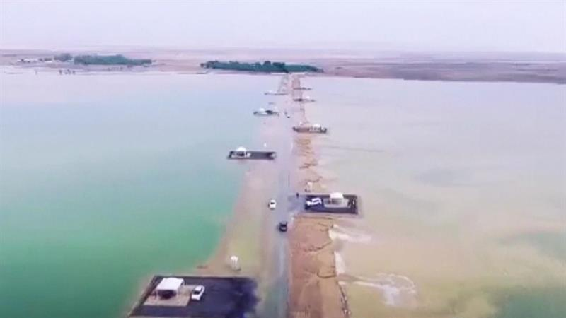 Watch Desert Turned into a Lake After Rainfall