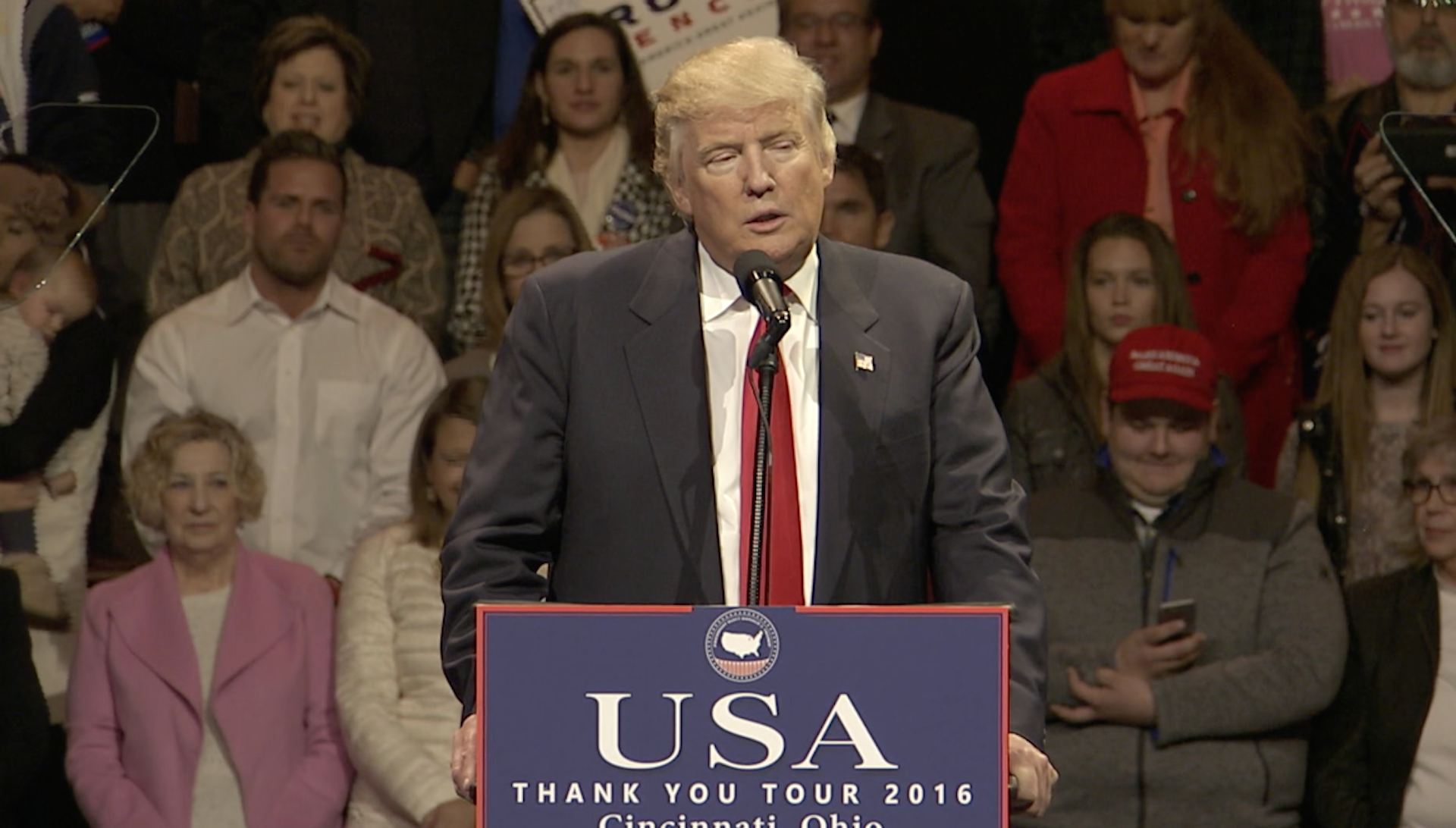 Trump Says 'Thank You' to Ohio During Victory Lap Tour