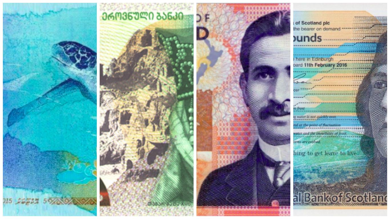 The nominees in the Oscars of paper currency