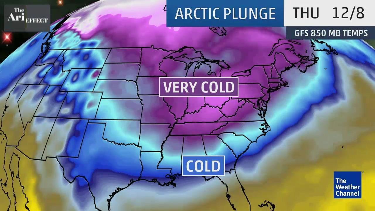 Arctic Plunge Will Bring Coldest Temperatures of Season
