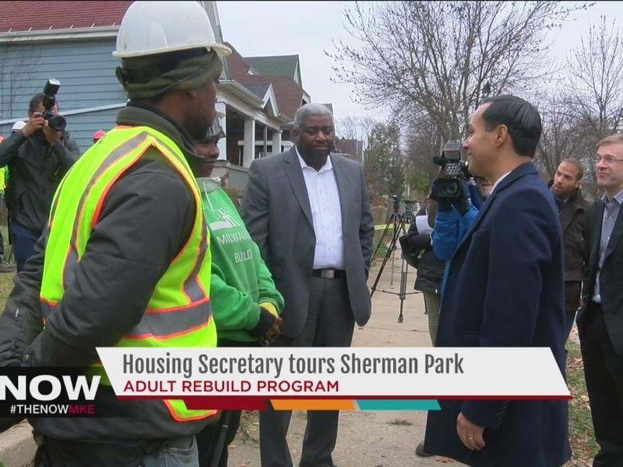Housing Secretary tours Sherman Park neighborhood