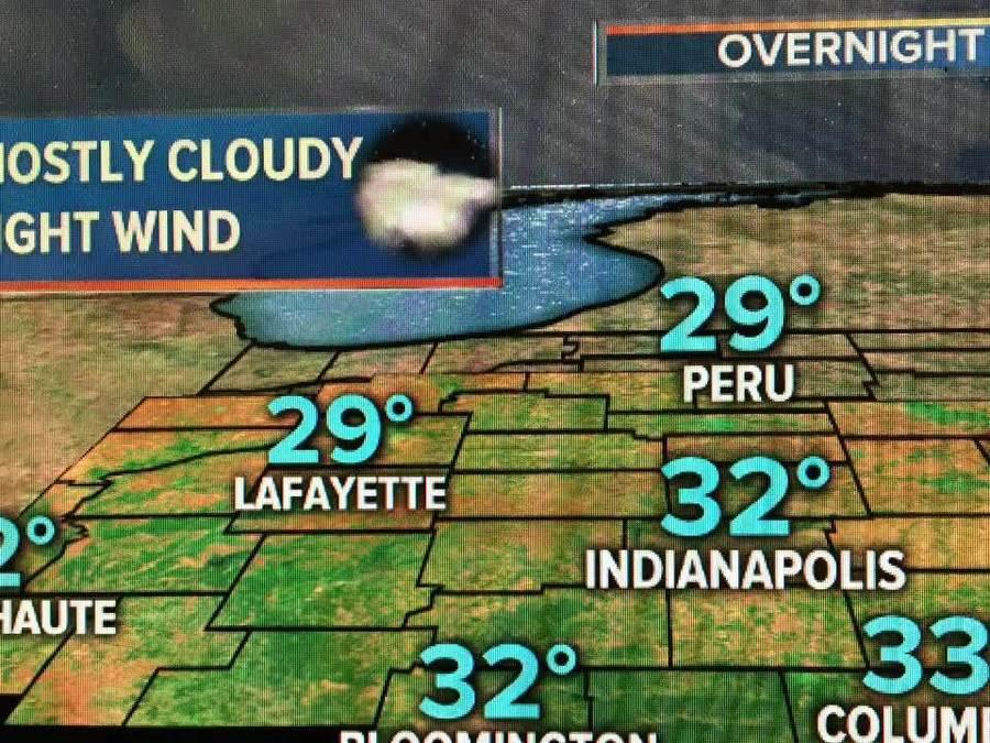 Saturday night weather in Indy