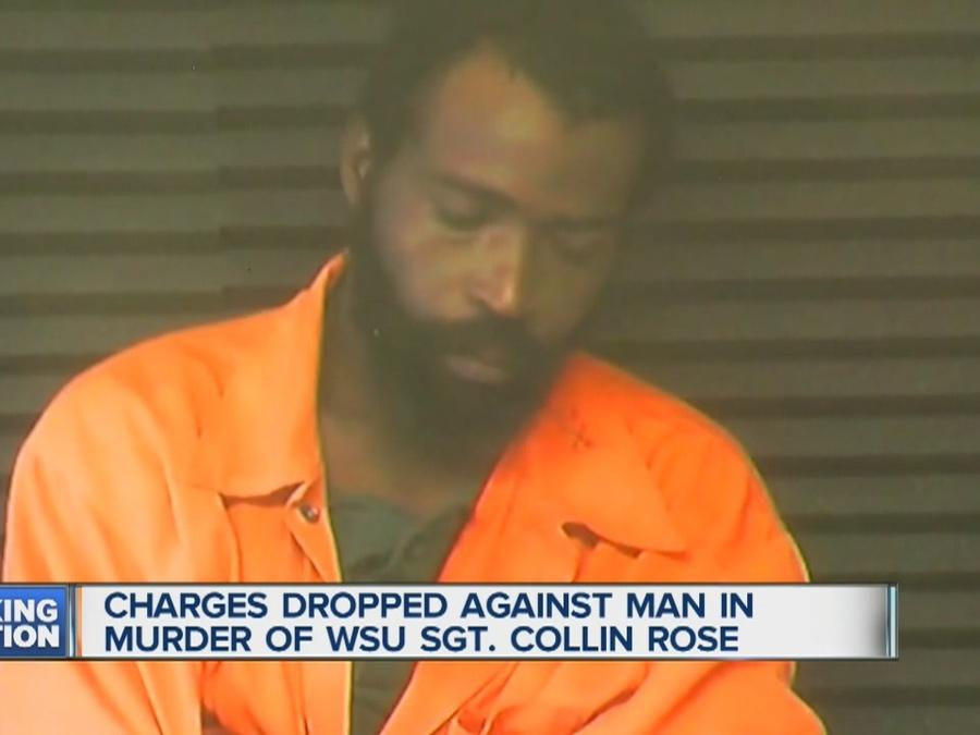 Charges dropped against man in WSU Sgt. Collin Rose murder