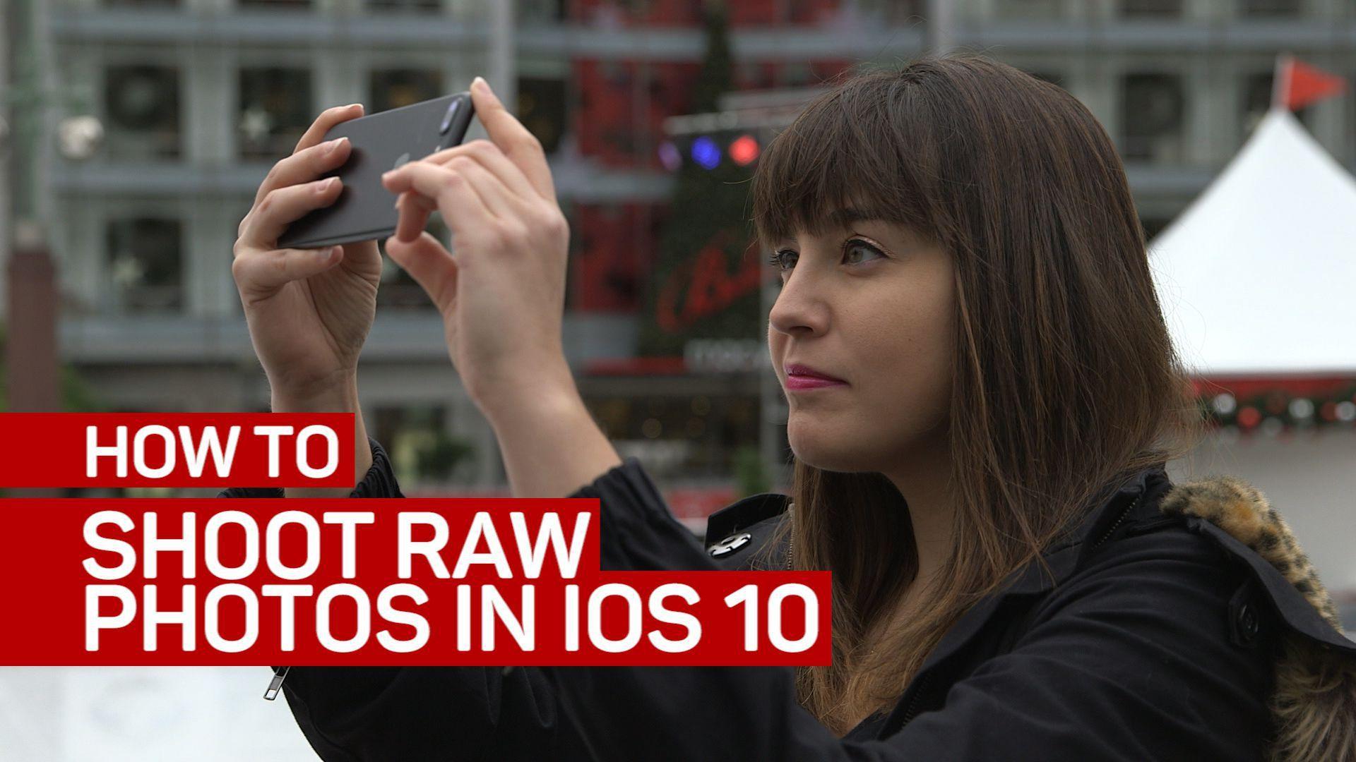 Shoot raw photos in iOS 10