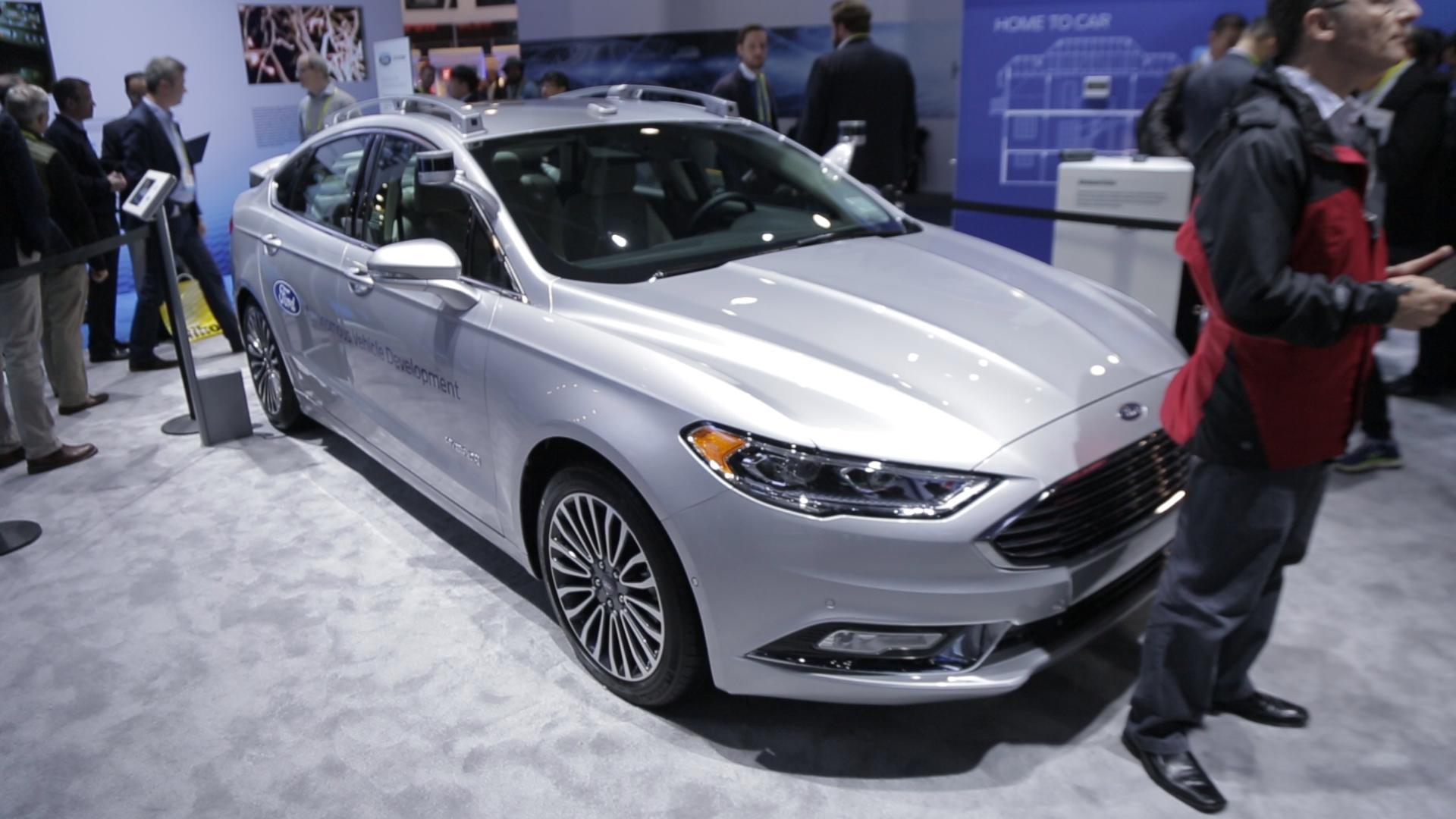 Up close with Ford's new autonomous development Fusion Hybrid car