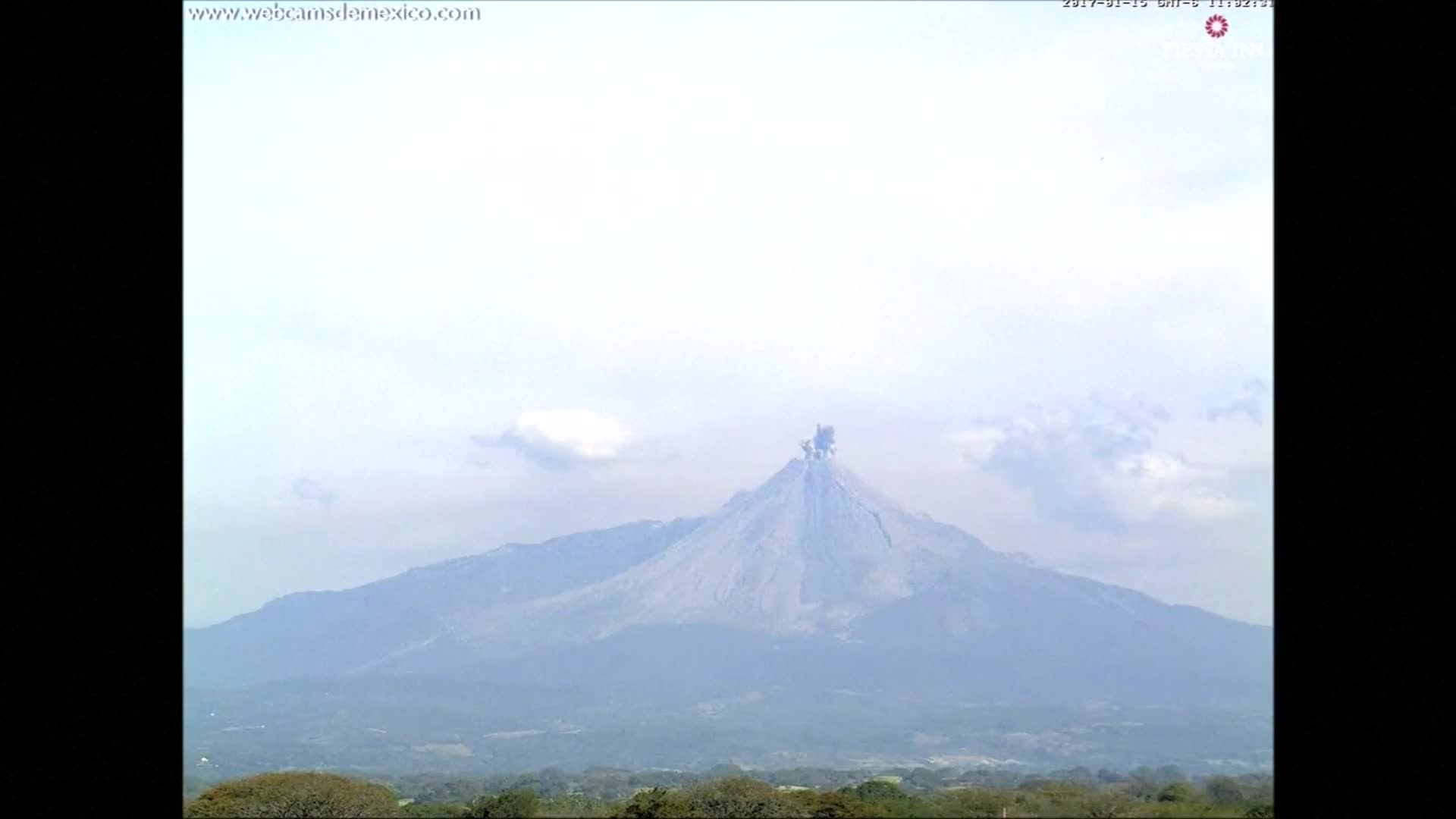 Mexico's Colima volcano erupts three times over the weekend