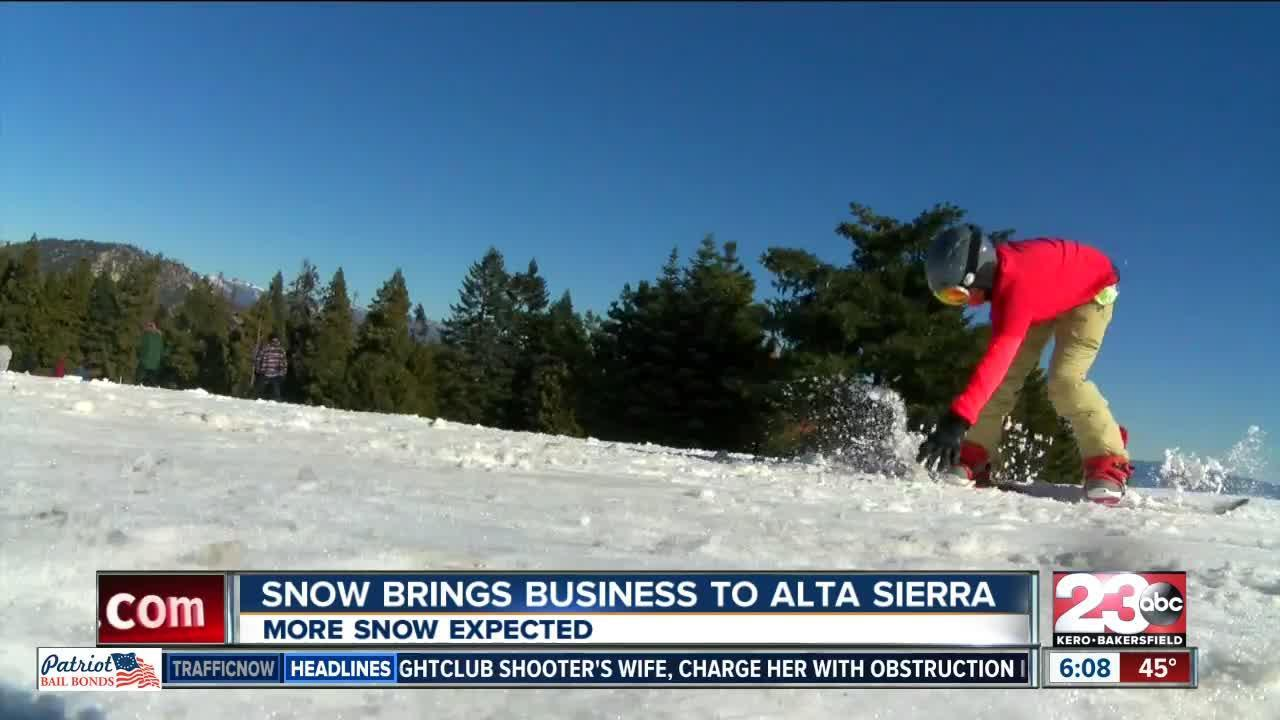 Snow brings business to Alta Sierra