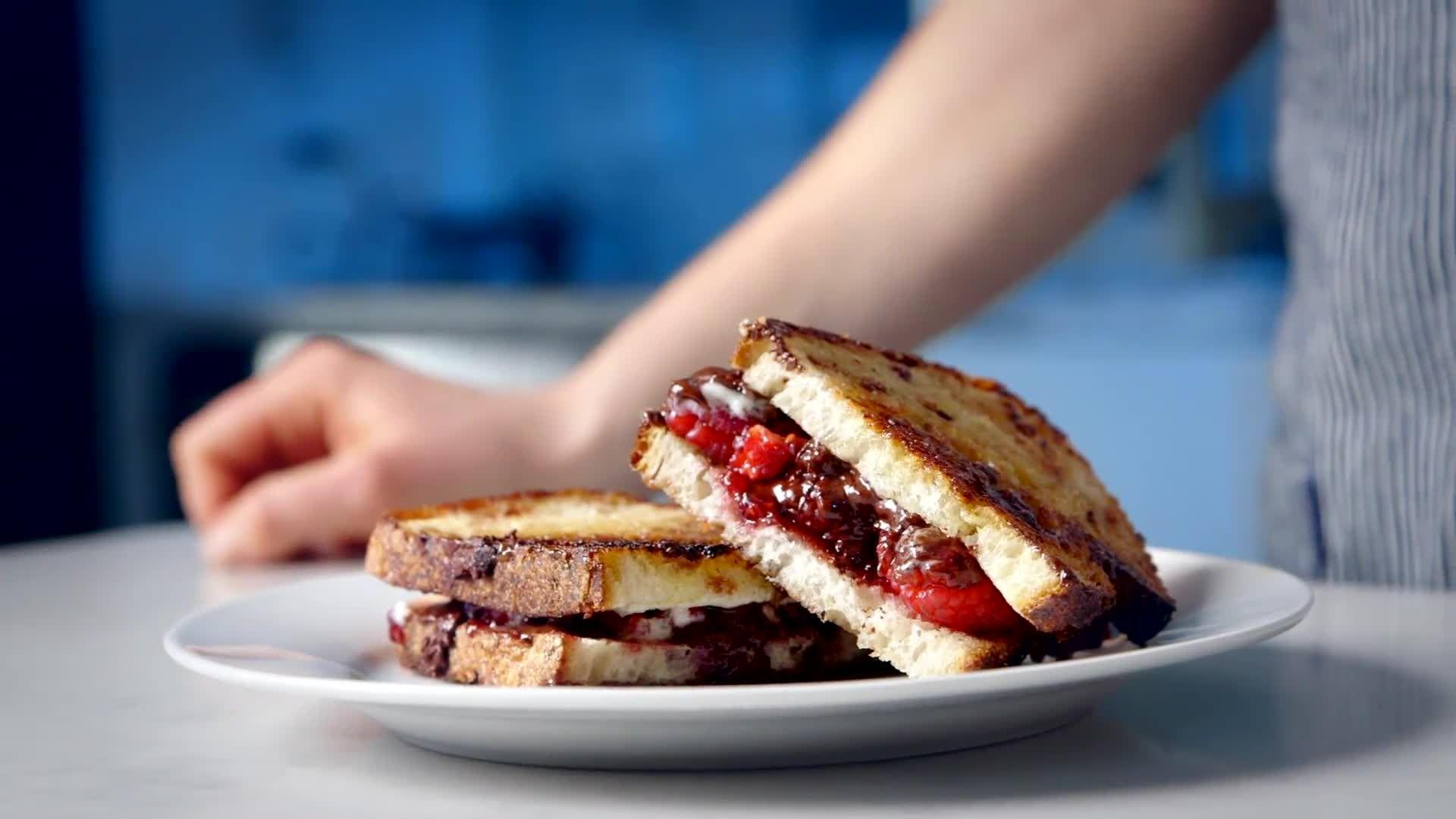 Chocolate Raspberry Panini Recipe