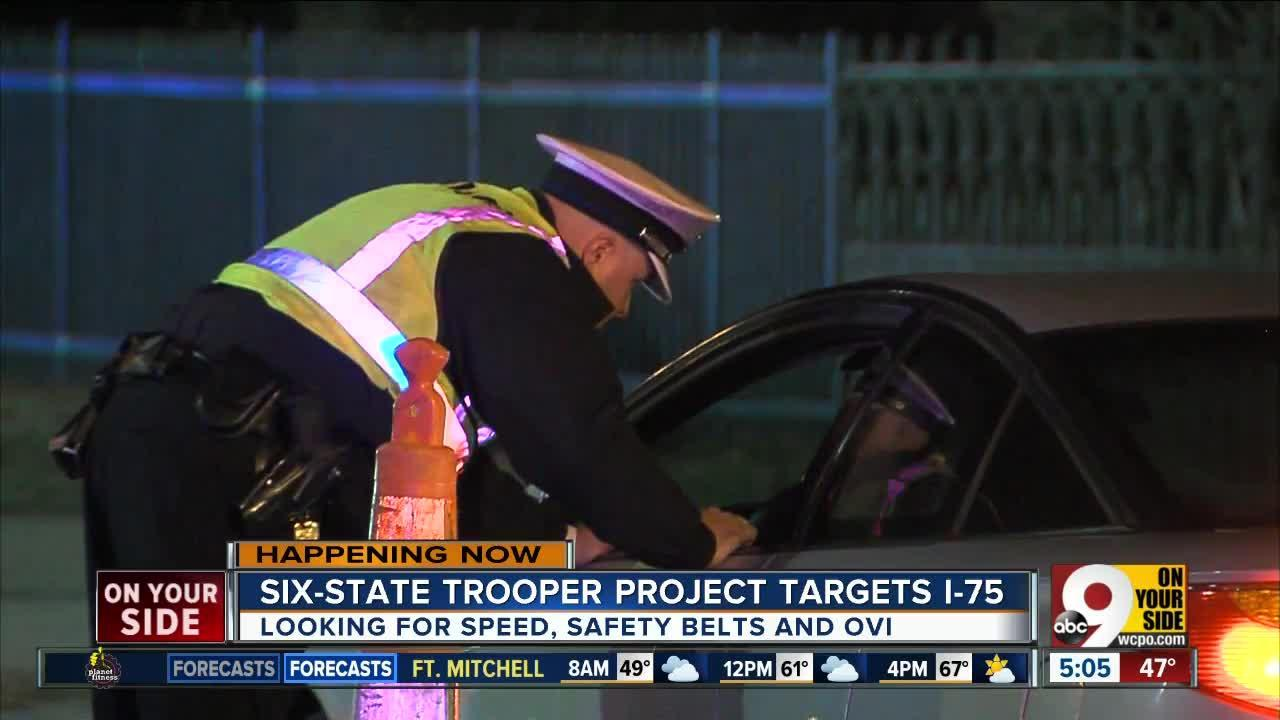 Ohio State Highway Patrol, Kentucky State Police take part in high-visibility campaign on I-75