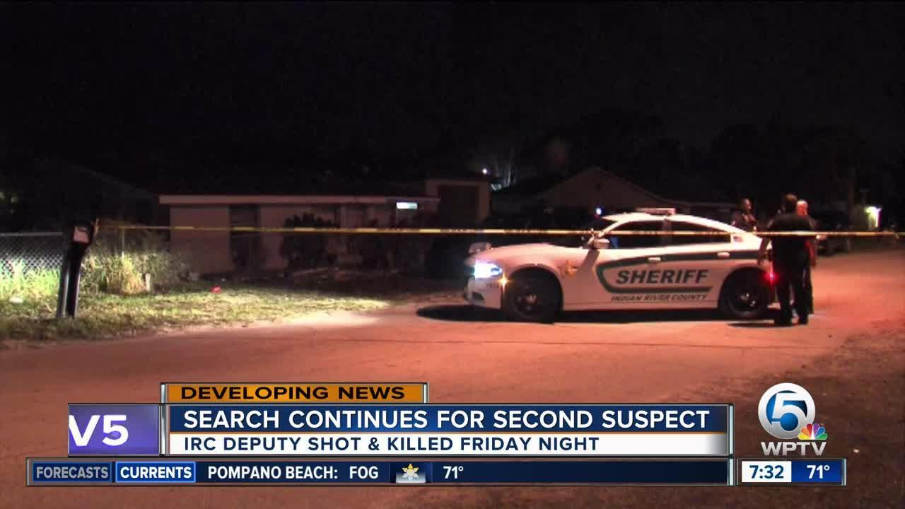 Search continues for second suspect in death of IRCSO deputy