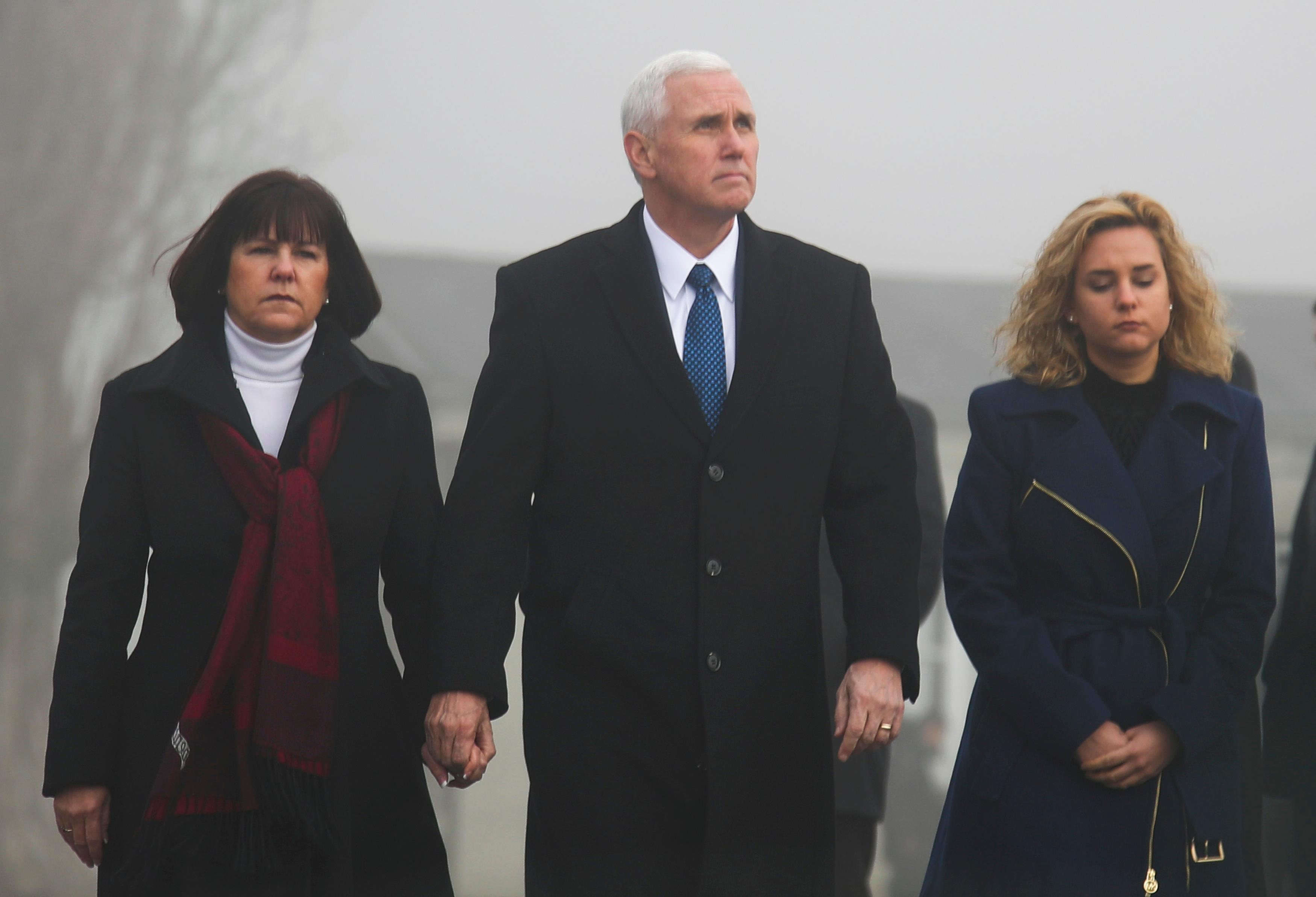 Mike Pence visits Nazi concentration camp with family