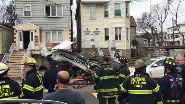 Small Plane Crashes in New Jersey Residential Street; Pilot Hospitalized