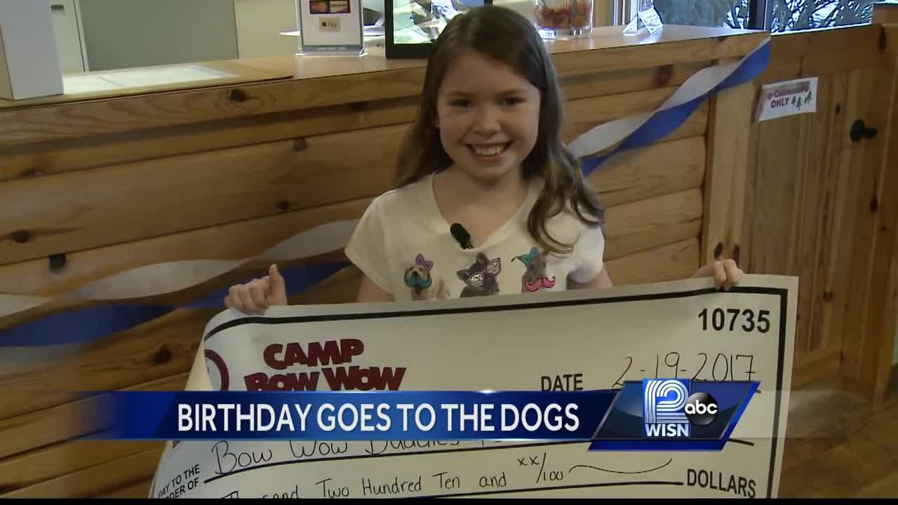 10-year-old Milwaukee girl raises money for Camp Bow Wow