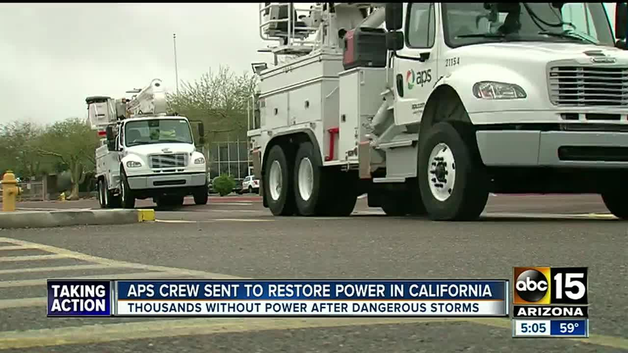 APS sent to California to restore power