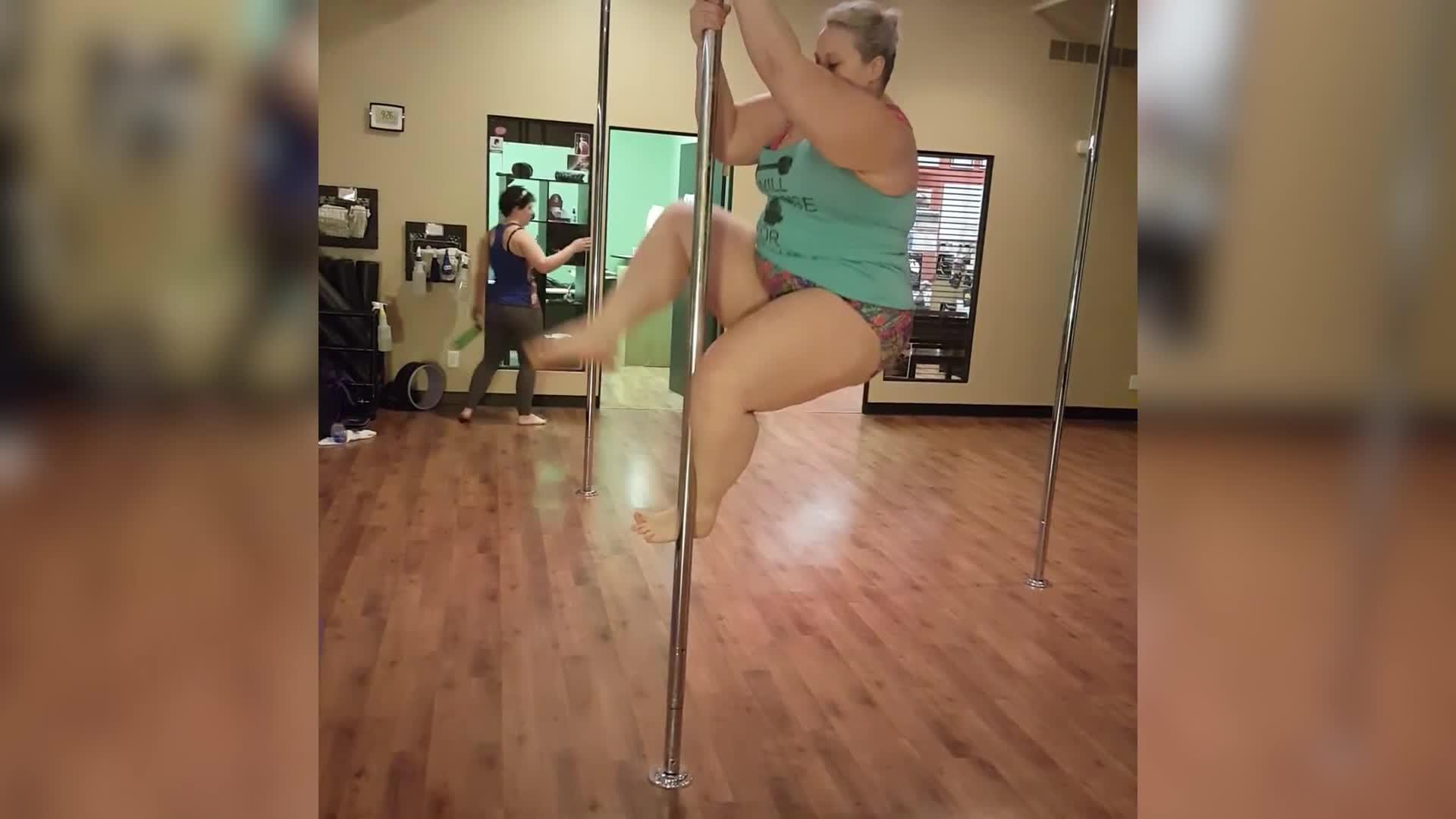 Plus-size pole dancer hits back at her critics