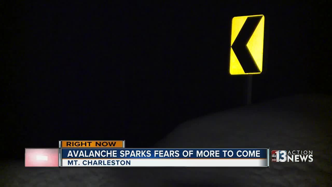 Crews fear another avalanche on Mt. Charleston