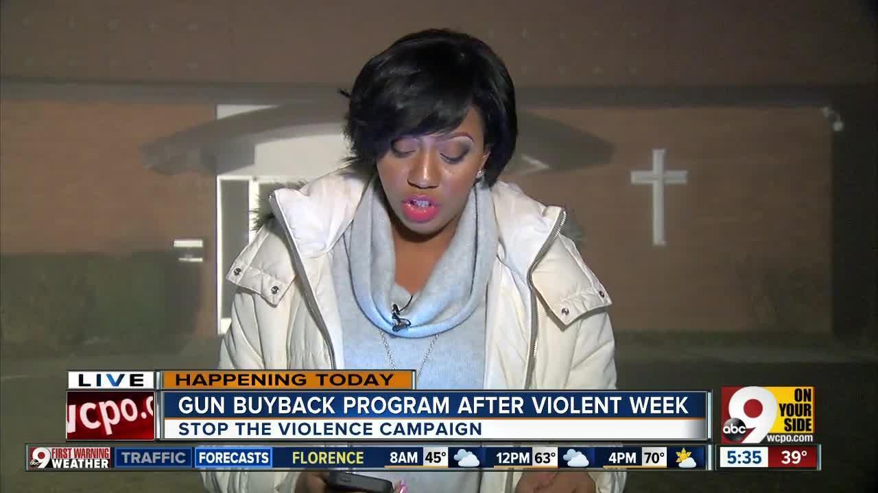 Gun buyback program after violent week