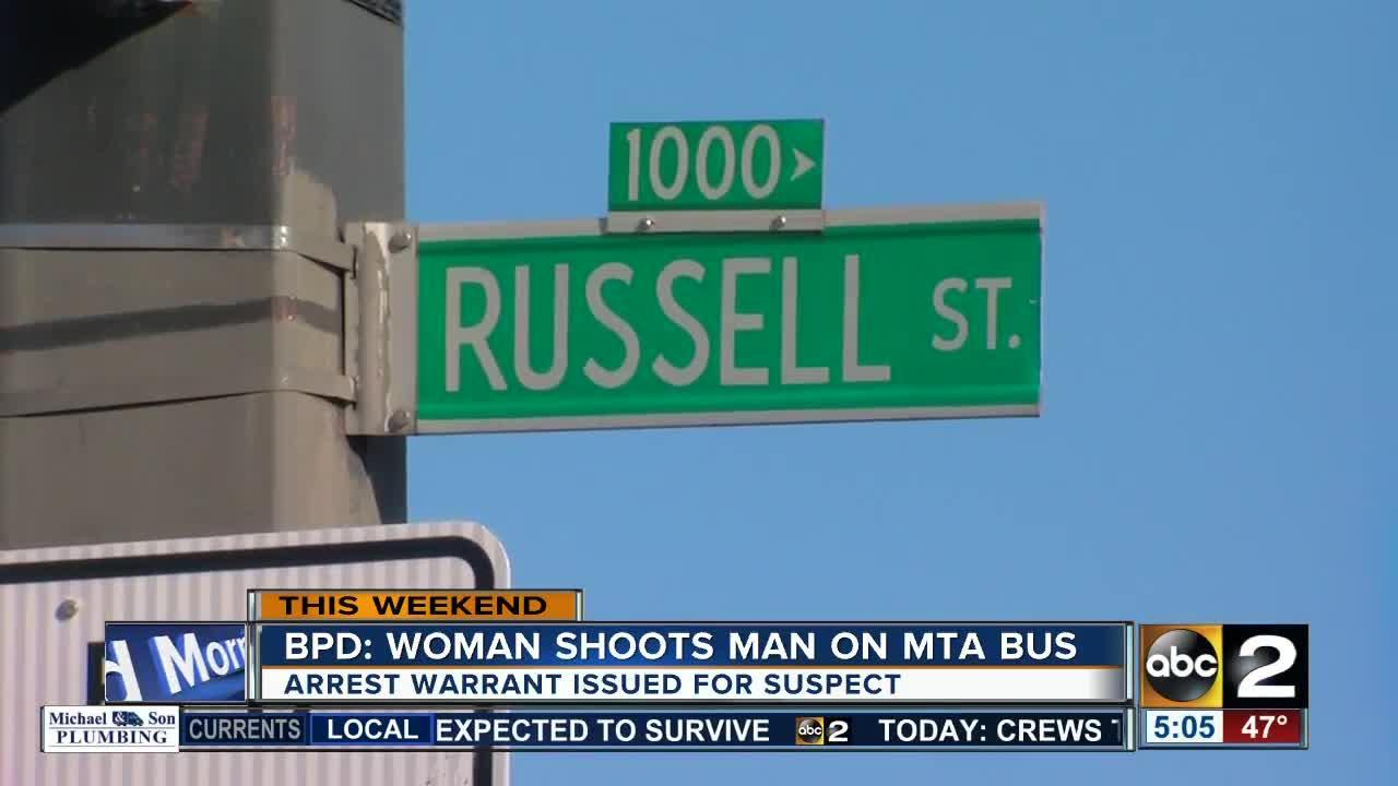 Woman shoots man on MTA bus in Baltimore