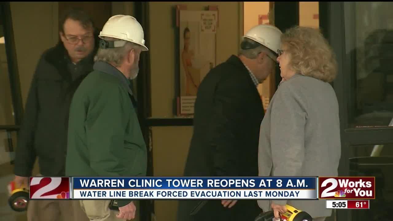 Warren Clinic reopening after last week's water line break