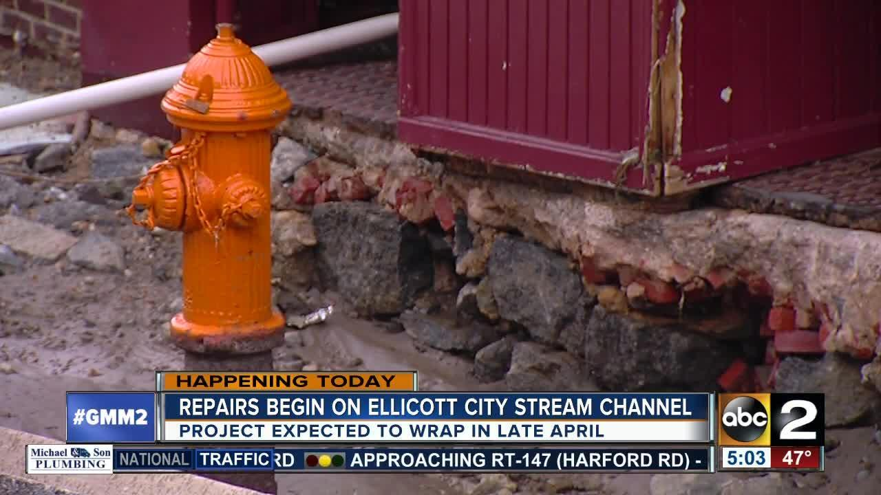 major phase of repair work begins to prevent flooding in ellicott city