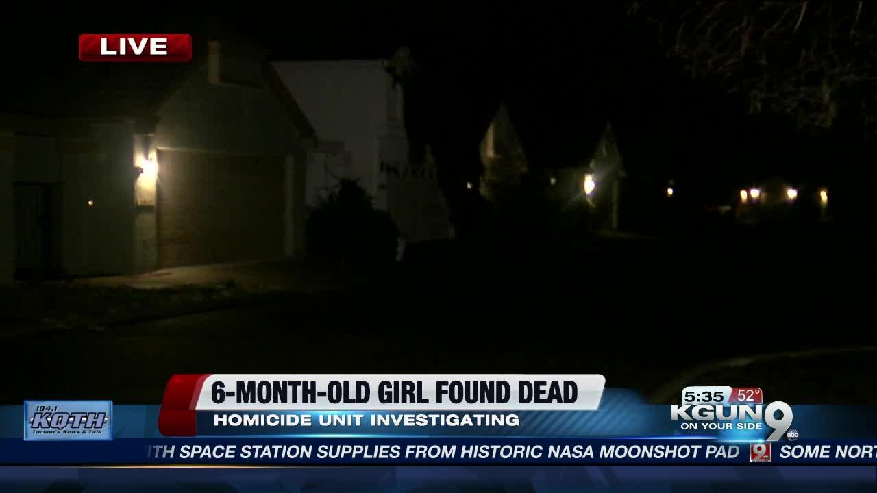 Deputies investigate death of six-month old baby