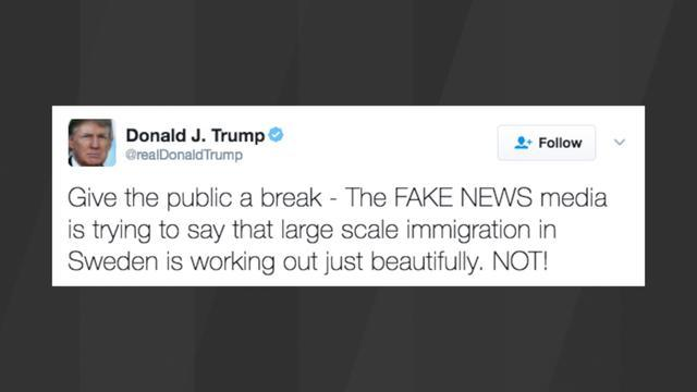 Trump Tweets A Follow-Up Swipe At Sweden