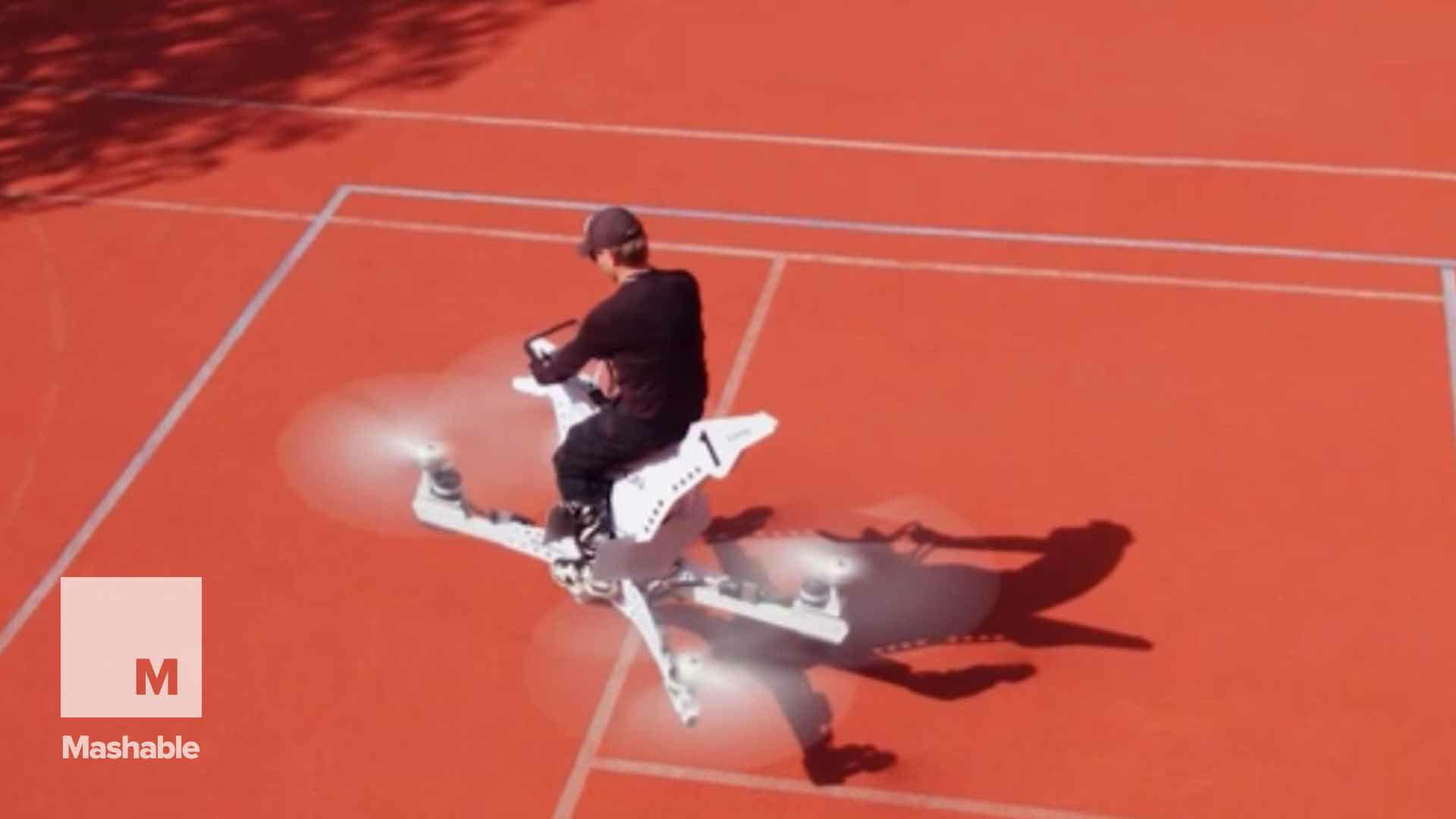This flying motorcycle is straight out of Star Wars