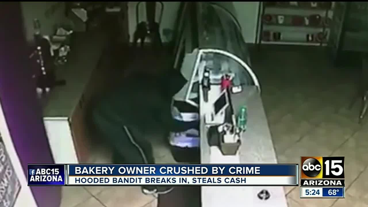 Bakery owner crushed by crime after recent break-in