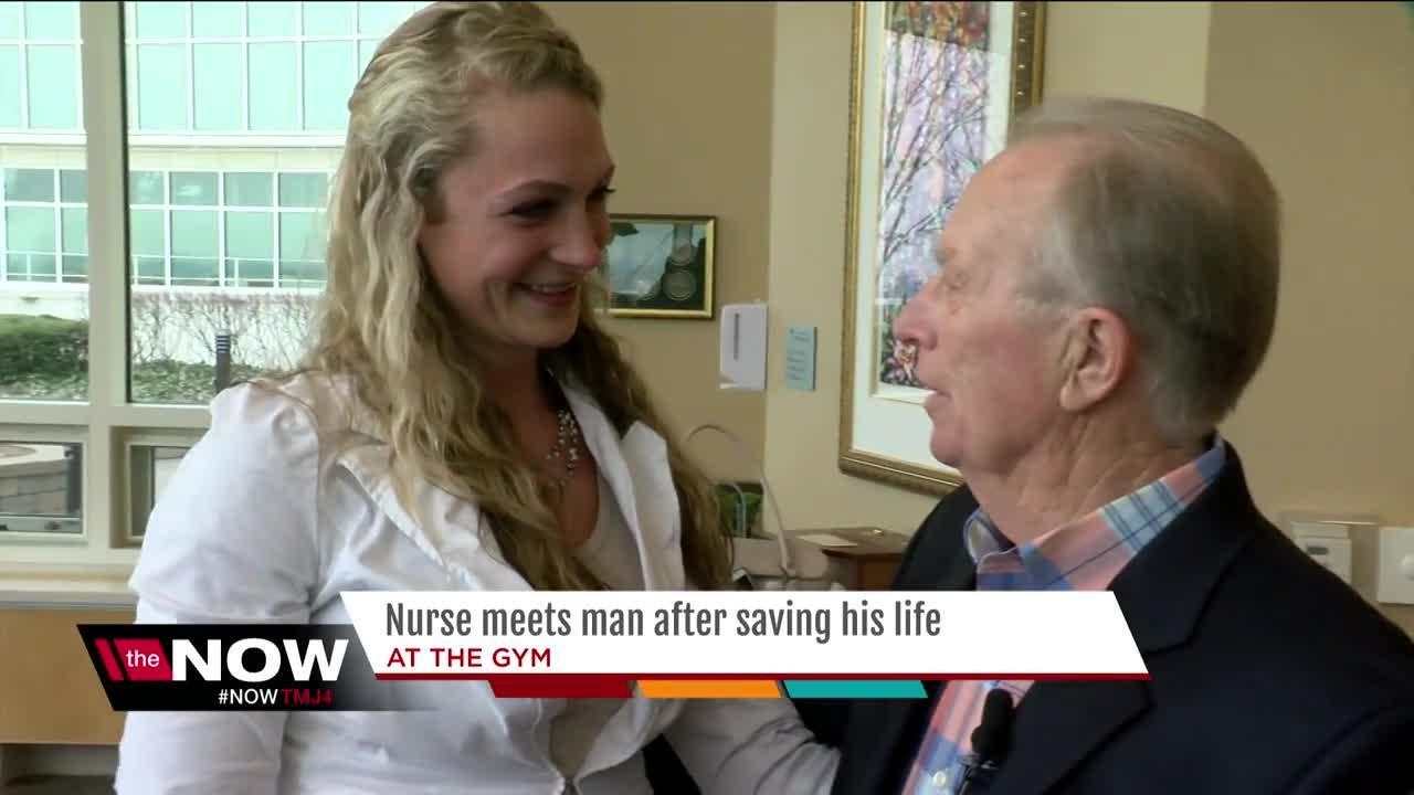 Man reunited with woman who saved his life with CPR at Germantown gym