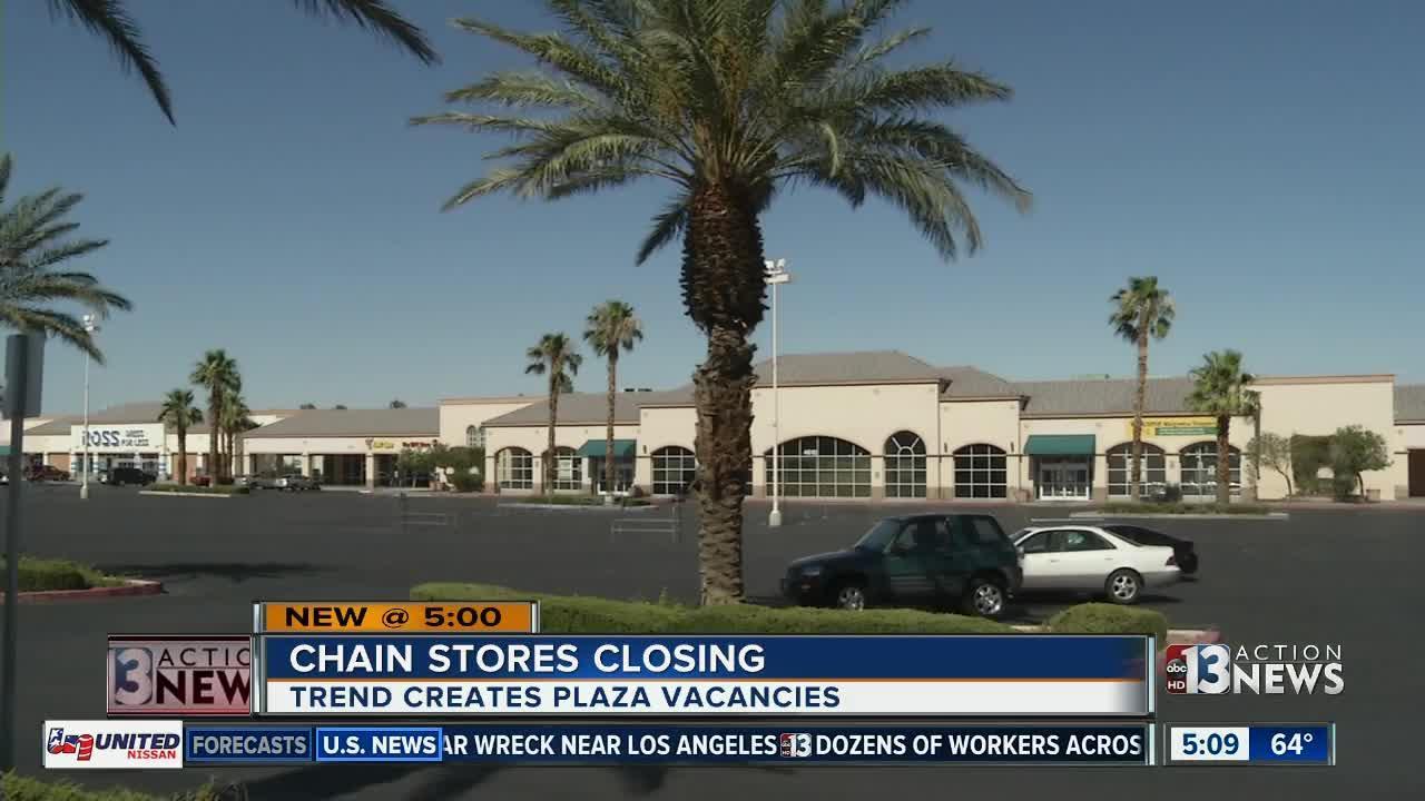 Chain store closings, online shopping create plaza vacancies