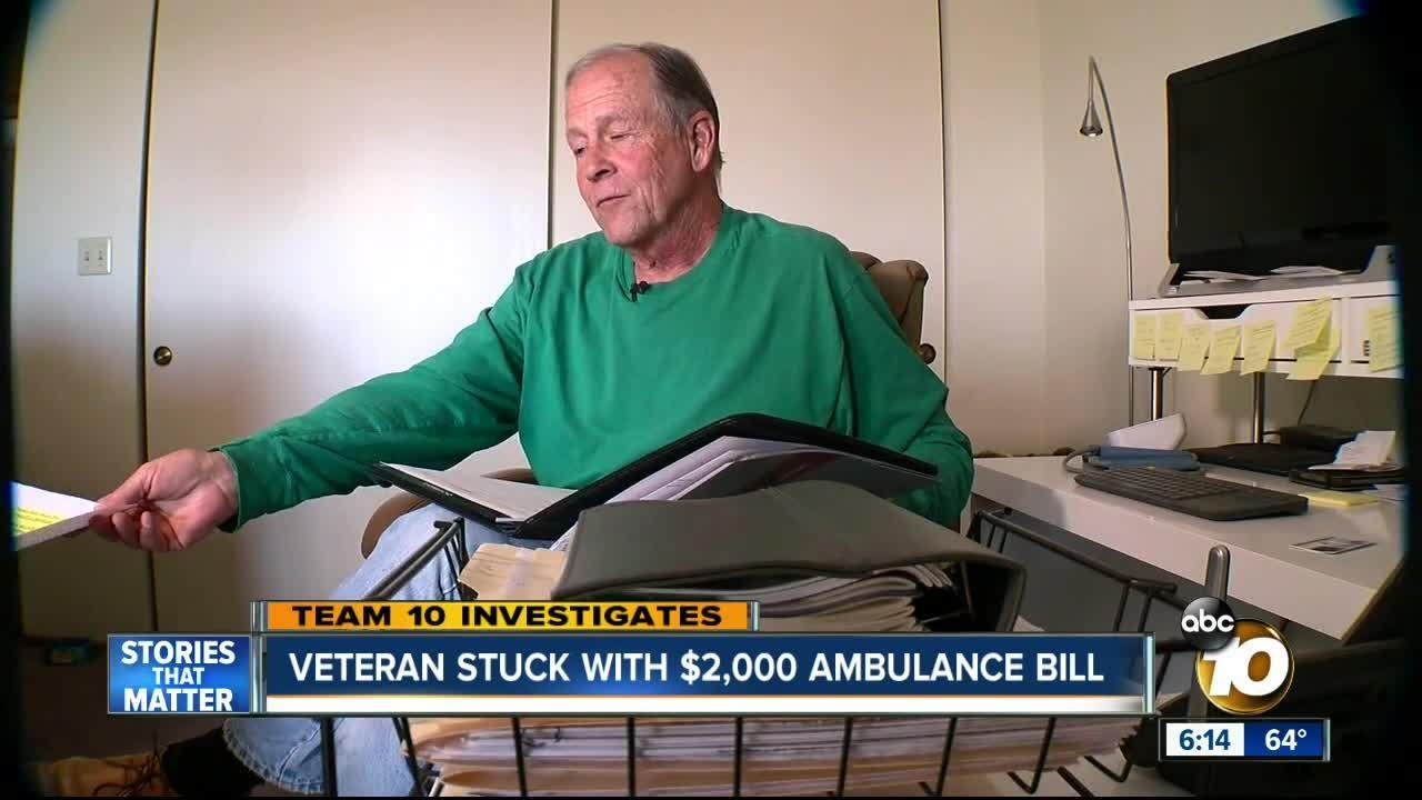Veteran stuck with $2,000 ambulance bill