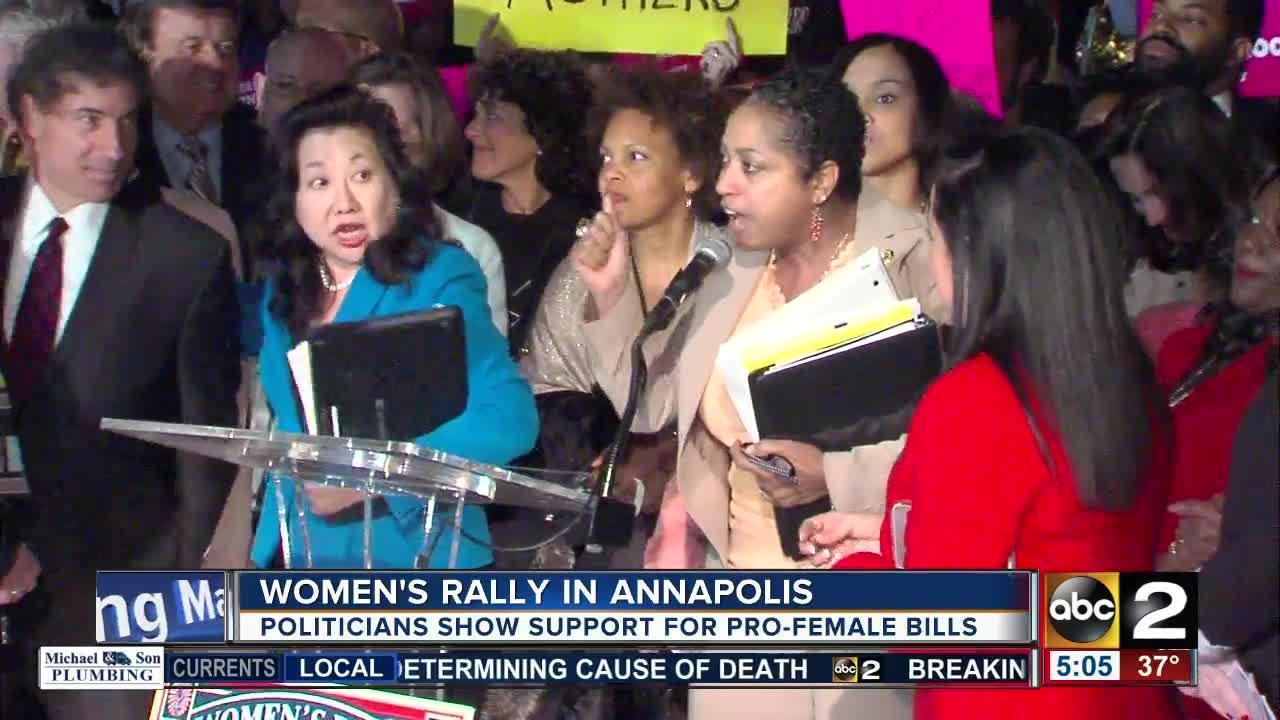 Maryland women rally in support of pro-female legislation