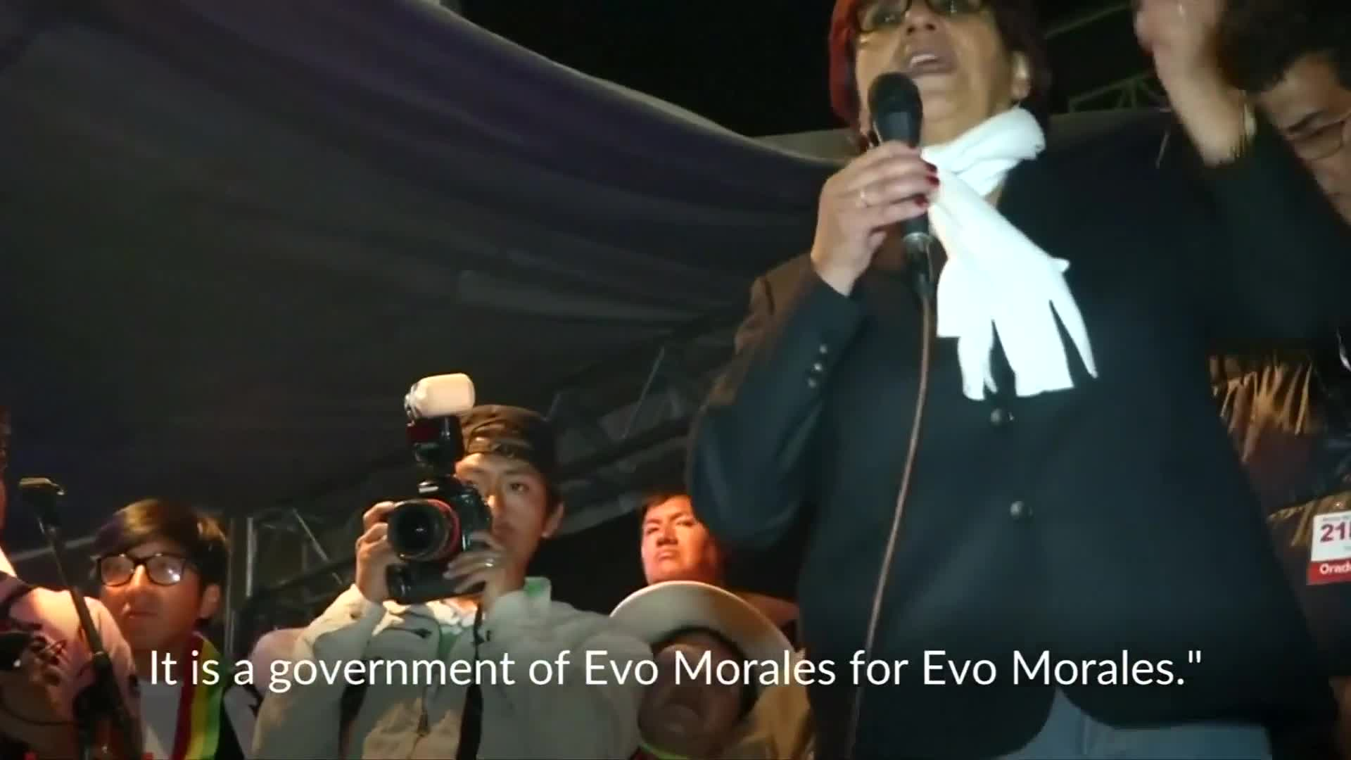 Bolivians rally against Morales' bid for reelection